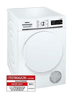 Siemens iQ700 WT44W5W0 iSensoric Premium Wärmepumpentrockner / A+++ / 8 kg / Großes Display mit Endezeitvorwahl / Selbstreinigungs-Automatik / weiß (B016XKBGTY)   Amazon Products