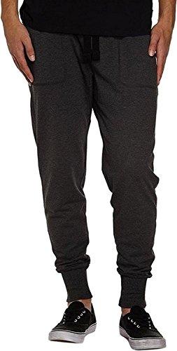 Fiream Mann Freitzeit sportliche Hose Baumwoll aktiv elastisch Taille Laufsport Hosen Darkgray