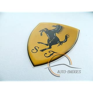 auto-badges Ferrari-Schild-Plakette, Auto-Emblem, klassischer Vintage-Stil