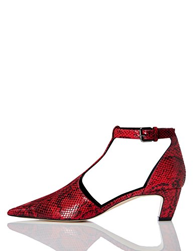 FIND Pumps mit T-Steg, Rot (Red 007), 37 EU