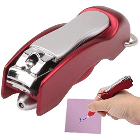 Multifunzione 2-In-1 Penna A Sfera / Promotion & Fashion Penna / Tagliaunghie Penna (Consegna Colore Casuale)