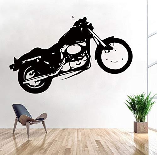 LKOBN Wandaufkleber Motorrad Harley American Graffiti Fahrrad Aufkleber Kinderzimmer Art Deco Blume Dekoration 57 cm * 90 cm (Motorrad-schwanz-net)