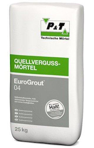 EuroGrout 04 Vergussmoertel 0-4mm 25kg - kraftschlüssigen Vermörtelungen von Stahl und Beton