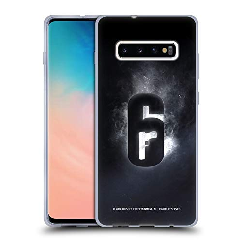 Head Case Designs Offizielle Tom Clancy's Rainbow Six Siege Gluehen Logo Soft Gel Huelle kompatibel mit Samsung Galaxy S10+ / S10 Plus - Rainbow Hülle Case