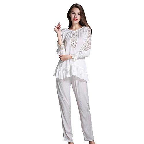 GJX Cotone Ladies stampa pigiama Set PJs Top Bottoms Nightwear , 170 (xl)