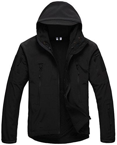 Kelmon uomo softshell cappuccio tattico giacca, nero, x-large