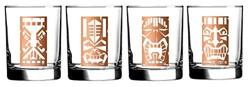 Luminarc Tikis verziert Double Old Fashioned Glas (Set von 4), 13,25oz 4 Double Old Fashioned Gläser