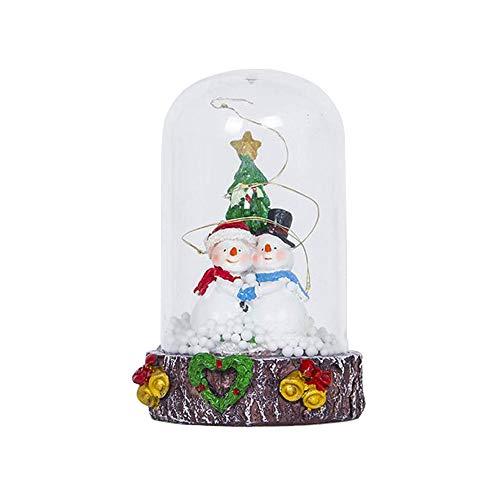 (FLYWS Weihnachtsschmuck mit Lichter Weihnachtsmann basteln Anhänger kreative)