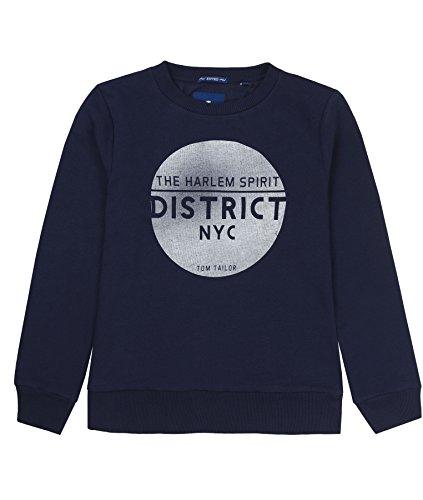 TOM TAILOR Kids Jungen Sweatshirt Platzierter Druck 1 Sweatshirt, per Pack Blau (True Dark Blue|Blue 6811), 140 (Herstellergröße: 140)