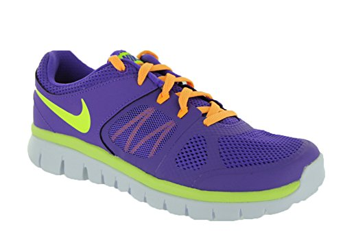 Nike Garçons Revolution 3 (psv) Chaussures de course (11 M Us Little Kid, Gris / vert) Purple Venom/Atomic Mango/White/Volt