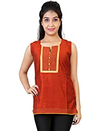 Carrel Cotton Silk Fabric Women Short Kurti(AGSPL-3285-JXE-KT-07)