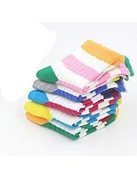 RUOHAN Calcetines para Niños 5 Pares Calcetines para Niños Algodón Sin Espinas Costuras Rayas Tiras De