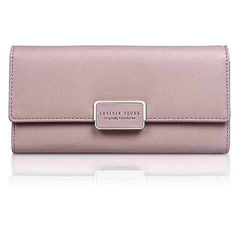Fency , Damen-Geldbörse rosa rose