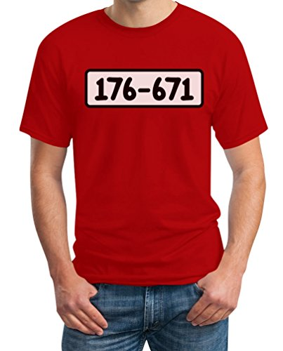 Kostüm Dagobert - Panzerknacker Shirt Kostüm Karneval Fasching T-Shirt XXX-Large Rot