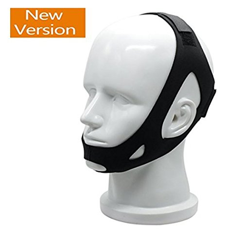 Anti Ronquidos correa de la barbilla - Natural Sleep Aid Dispositivo ronquido tapón para hombres, mujeres y niños, un seguro cómodo eficaz para una noche de sueño tranquilo