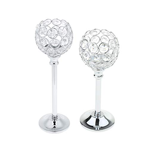 F Fityle 2 Unids Crystal Candle Holder Luz Candelabro