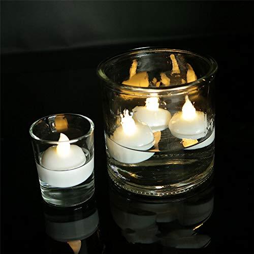 LED Kerze wasserdicht, 12 LED Flammenlose Kerzen, Weihnachten, Elektrische Teelichter Kerzen für Halloween, Weihnachten, Party, Bar, Hochzeit 3.8 * 4.0 cm