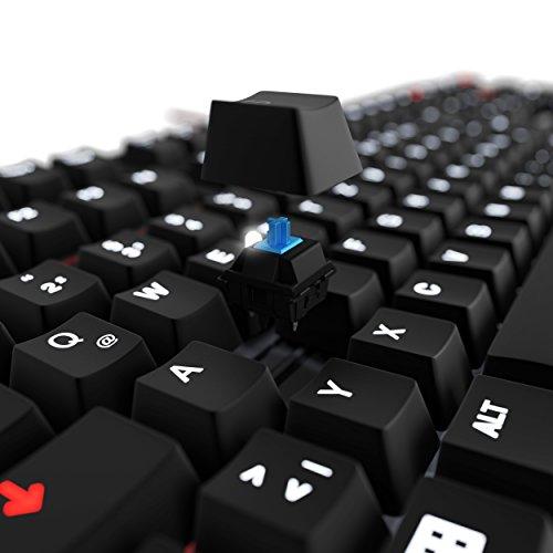Lioncast LK30 mechanische Gaming Tastatur – Cherry MX Blue (weiße Beleuchtung, USB, QWERTZ, Makro Tasten) - 5