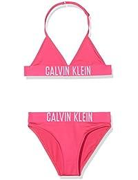 Calvin Klein Triangle Bikini Set, Conjunto de baño para Niñas