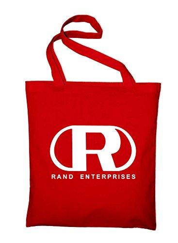 Rand Enterprises Logo Fanshirt Fan Jute Jutebeutel, Beutel, Stoffbeutel, Baumwolltasche Rot