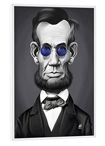 artboxONE Poster mit weißem Rahmen 30x20 cm Abraham Lincoln Steampunk von Rob Snow - Poster mit Kunststoffrahmen
