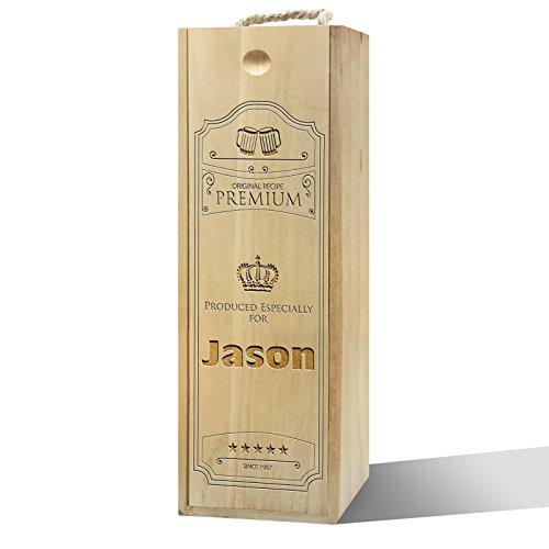 Twisted Envy personalisierbar Original Rezept Label Holz Wein Box (Holz Rezept Box)