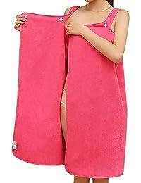Toalla de mujer Abrigo Turbante para el cabello Conjunto Microfibra suave Usable Spa Ducha Baño Envoltura