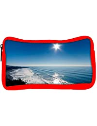 Snoogg Eco Friendly Canvas Sun View In The Beach View Designer Student Pen Pencil Case Coin Purse Pouch Cosmetic...