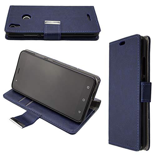 caseroxx Tasche Case Hülle Bookstyle-Case für Gigaset GS270 / GS270 Plus in blau
