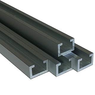 Alu C-Profil eloxiert EV1 11 x 17 x 4,5 x 2 mm für M8 Schraube oder Mutter (100 cm (7,00 €/m))