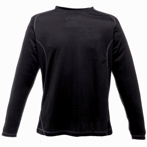 Regatta Herren Premium Thermo Unterhemd, langärmlig (Xlarge) (Schwarz)