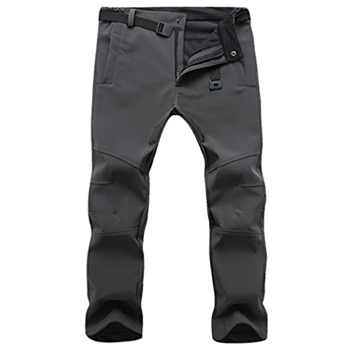 CIKRILAN Herren Outdoor Fleece Soft Shell Hose Wasserabweisend Winddicht Sports Trousers A