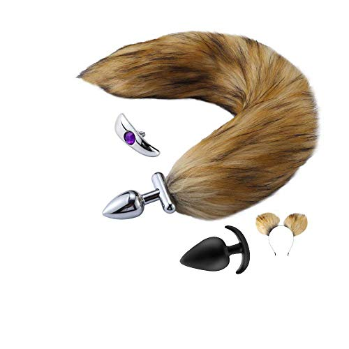 rring Faux Fluffy Fox Tail Romantic Halloween Day Party Geschenk Cosplay ()