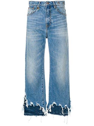 R13 Femme R13W5668147JASPER Bleu Claire Coton Jeans R13