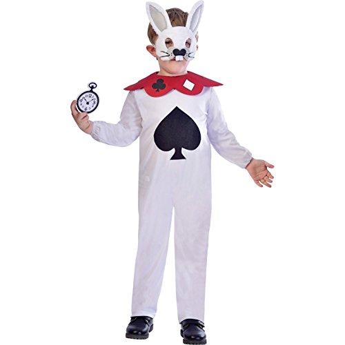 Weißes Kaninchen - Alice im Wunderland Kostüm Kinder Unisex ()