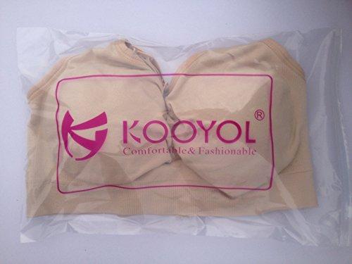 KOOYOL Femme Soutien-gorge Allaitement sans couture Ecru