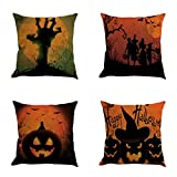 SEWORLD Halloween 4PC Home Car Bett Sofa Dekorative Brief Kissenbezug Kissenbezug C