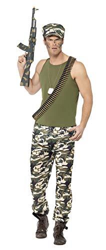 Smiffys 44659XL - Herren Armee Kostüm, Größe: XL, grün (Damen Für Halloween-kostüm Spielzeug-soldat)