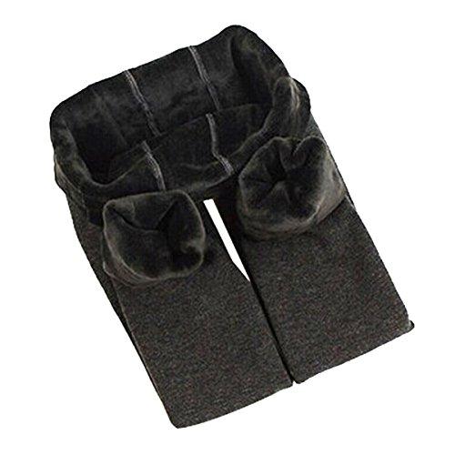 Yodensity Fille Hiver Leggings élastique Chaud épais Collant Pour 4-12 Ans