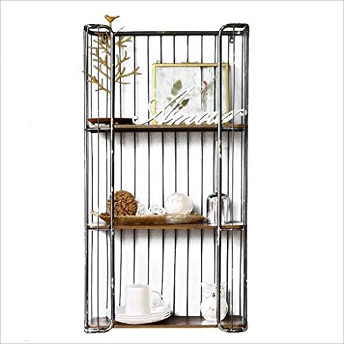 ACZZ Bücherregal Loft Industrielle Wind Nostalgische Waffel Teiler Regal Rack Retro Wand Eisen Racks Wohnkultur Phase Rahmengröße: 19,5 * 52,5 * 98 Cm Wand Einheiten Bücherregale -