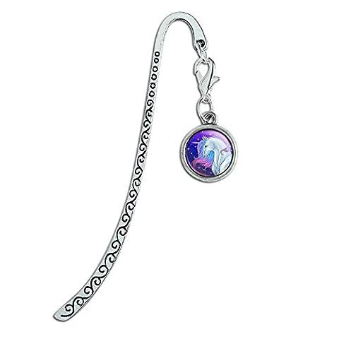 Majestic Unicorn Pink Purple Blue Metal Bookmark Page Marker with