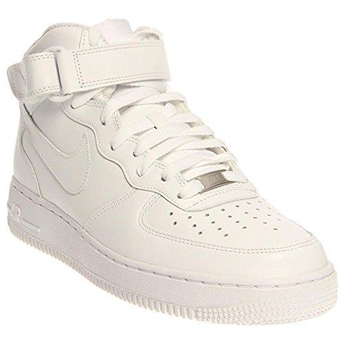 Nike Air Force 1 Mid '07, Scarpe da Basket Uomo Bianco