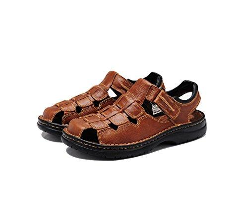 Männer Leder Sandalen Mode Wasser Schuhe Sommer weichen Rindsleder Schuhe Schuhe , brown , 41