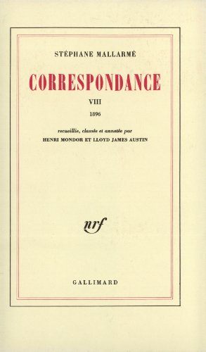 Correspondance, t. VIII (1896).