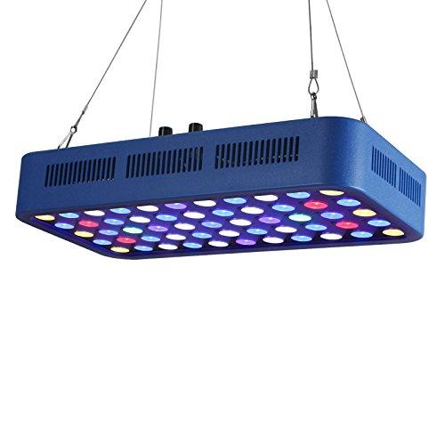 TOPLANET Aquarium Beleuchtung Led 165w Aquarien Lampe Blaues Licht für 150L-280L Tank Koralle Riff Pflanze Wachstum 55 LED