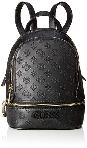 Guess Skye Backpack, Zaino Donna, Nero (Black), 9x26.5x20 cm (W x H x L)