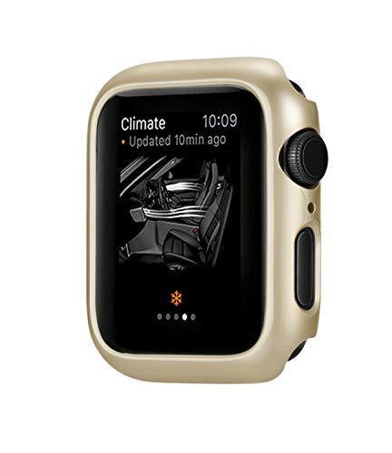 jemous Compatible con Cover per Apple Watch Series 4 44mm/40mm iWatch PC Plated Metal Bumper Protettivo Cover Custodia per Apple Watch Series 4 (Oro, 44mm)