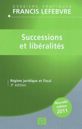 Successions et libéralités 2011
