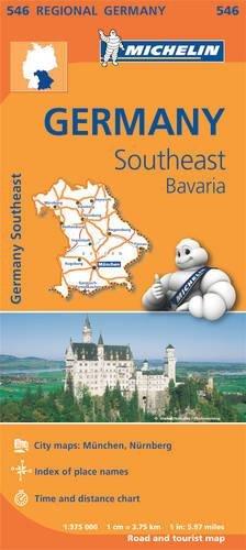 Mapa Regional Germany Southeast, Bavaria (Carte regionali) por MICHELIN