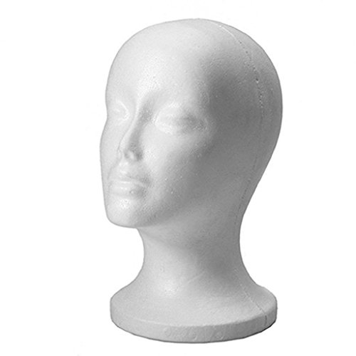 Female Head Model Wig Hair Hat Display Styrofoam Foam Mannequin Manikin Test